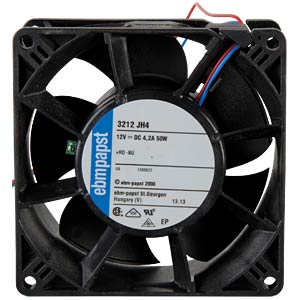 Axial fan,12VDC,92 x 92 x 38 mm, rpm: 13000 EBM-PAPST 969 3520 182