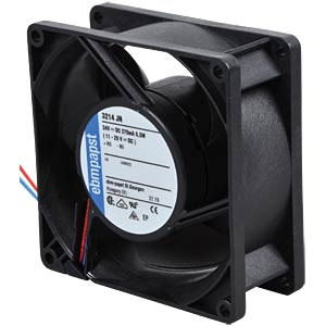 Axial fan, 24V DC, 92 x 92 x 38 mm, rpm: 6000 EBM-PAPST 929 3510 303