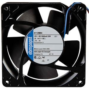 Axial fan,12V DC,119 x 119 x 38 mm, rpm: 6800 EBM-PAPST 969 4300 260