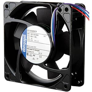 Axial fan, 24V DC, 119 x 119 x 38 mm, rpm: 9500 EBM-PAPST 969 4314 003