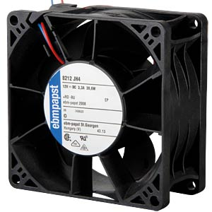 Axial fan, 12V DC, 80 x 80 x 38 mm, rpm: 14000 EBM-PAPST 969 2910 196