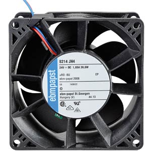 Axial fan, 24V DC, 80 x 80 x 38 mm, rpm: 14000 EBM-PAPST 969 2910 197