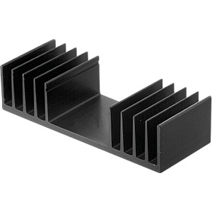 Heat sink 50mm 2.5 K/W black anodised FISCHER ELEKTRONIK SK 04/50/SA