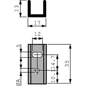 Kühlkörper, 35 mm, Alu, 17 K/W, TO-220 FISCHER ELEKTRONIK SK 13/35/SA220-3,2