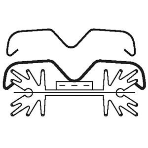 THF-104 - Transistorhalteklammer/-Haltefeder zu SK-104