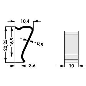 Montage-Clip für Kühlkörper SK, LAM FISCHER ELEKTRONIK THFU 7