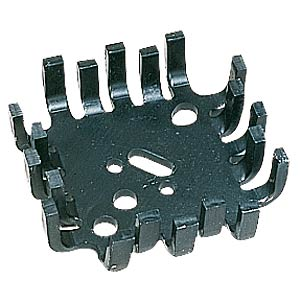 Finger-shaped heat sink, 46x46x12.7mm, 7K/W FREI