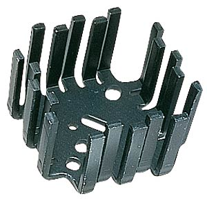 Finger-shaped heat sink, 46x46x25.4mm, 6K/W FREI