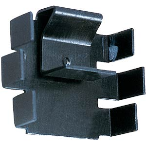 Clip-on heat sink, 20.8x25.1x6.8mm, 27K/W FREI