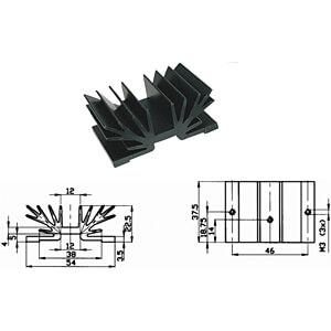 Profilkühlkörper, 37,5x54x22,5mm, 5,7K/W FREI