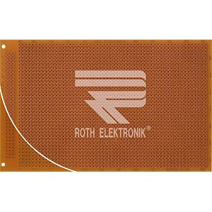 Prototyping board, CEM3, spacing 2.54 mm, 3-hole soldering pads ROTH-ELEKTRONIK RE310-S1