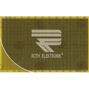 Laborkarte FR4 RM 2,50 mm 37 x 62 Lötinseln ROTH-ELEKTRONIK RE100-LF