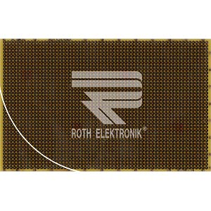 Prototyping board, spacing 2.54 mm, double-sided ROTH-ELEKTRONIK RE200-LFDS