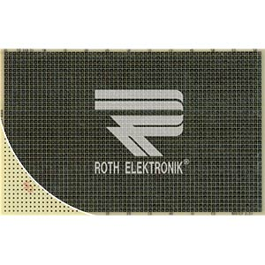 Prototyping board, CEM3, spacing 2.54 mm, 100 x 160 mm ROTH-ELEKTRONIK RE210-S1