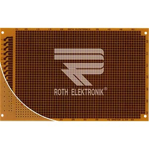 Prototyping board, FR2, spacing 2.54 mm, 32-pin ROTH-ELEKTRONIK RE317-HP