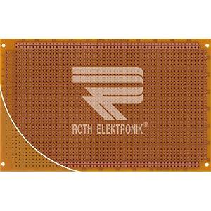 Prototyping board, FR2, spacing 2.54 mm, 64-pin ROTH-ELEKTRONIK RE318-HP
