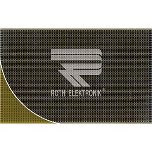 Prototyping board, FR4, spacing 2.50 mm, strips ROTH-ELEKTRONIK RE500-LF