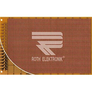 Prototyping board, FR2, spacing 2.54 mm, 32-pin, strips ROTH-ELEKTRONIK RE521-HP