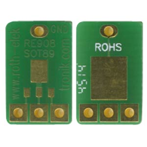 Adapter SOT89 1.50-mm pitch RM 2.54 mm ROTH-ELEKTRONIK RE908
