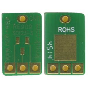 SOT 23-3 adapter 0.95-mm pitch RM 2.54 mm ROTH-ELEKTRONIK RE909