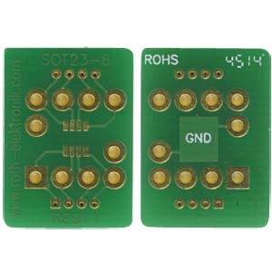 SOT 23-8 adapter 0.65 mm pitch RM 2.54 mm ROTH-ELEKTRONIK RE911
