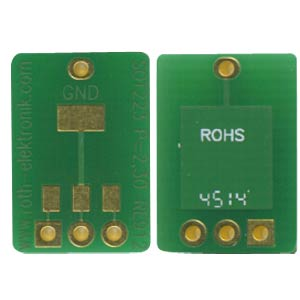 Adapter SOT223 2,30 mm Pitch RM 2,54 mm ROTH-ELEKTRONIK RE912