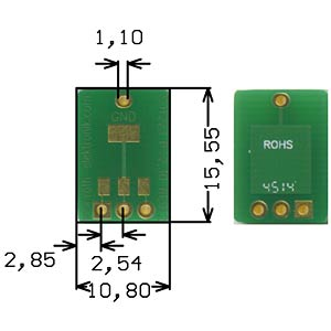Adapter SOT223 2.30-mm pitch RM 2.54mm ROTH-ELEKTRONIK RE912