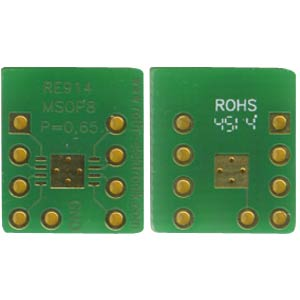 Adapter MSOP8 0,65 mm Pitch RM 2,54 mm ROTH-ELEKTRONIK RE914