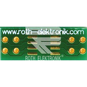 Adapter SO 8 Pitch 1,27 mm ROTH-ELEKTRONIK RE932-01