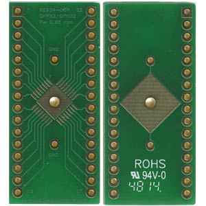 Multi-adapter QFP32 and QFN32 P=0.65 mm RM 2.54 mm ROTH-ELEKTRONIK RE934-03R