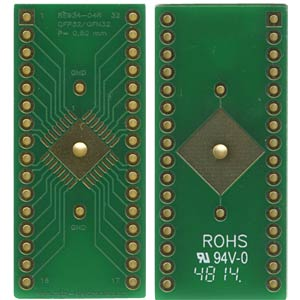 Multiadapter QFP32 & QFN32 P=0,80 mm RM 2,54 mm ROTH-ELEKTRONIK RE934-04R