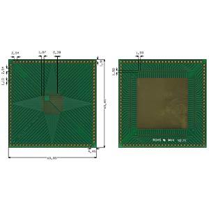 Multiadapter TQFP32 bis 100 P=0,50 mm RM 2,54 mm ROTH-ELEKTRONIK RE934-05E