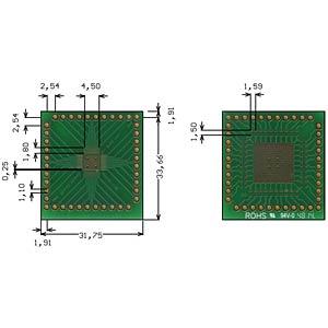 Multi-adapter QFN40 P=0.50mm RM 2.54mm ROTH-ELEKTRONIK RE935-03E