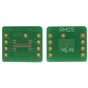 Adapter HSSOP8 P=0,80 mm RM 2,54 mm ROTH-ELEKTRONIK RE938-01