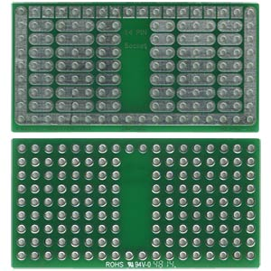 Solderable breadboard, 14-pin socket 46.99 x 24.76 mm ROTH-ELEKTRONIK RE942-S2