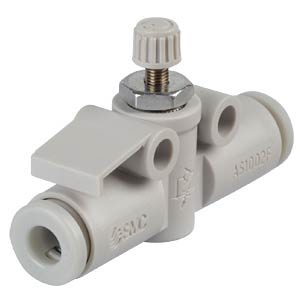 One-way throttle valve, straight, M5 <> 4 mm SMC PNEUMATIK