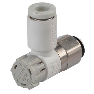 One-way throttle valve, easy operation, M5 <> 4 mm SMC PNEUMATIK