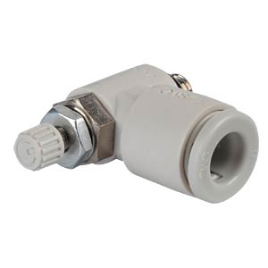One-way throttle valve, angled, M5 <> 6 mm SMC PNEUMATIK