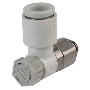 One-way throttle valve, easy operation, M5 <> 6 mm SMC PNEUMATIK