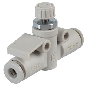One-way throttle valve, straight, R1/8 <> 4 mm SMC PNEUMATIK