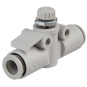 One-way throttle valve, straight, R1/4 <> 8 mm SMC PNEUMATIK