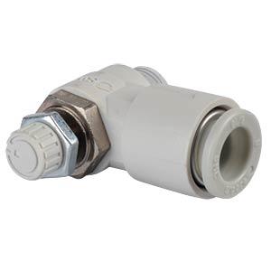 Drosselr&#252;ckschlagventil, gewinkelt, R1/8 <> 8 mm SMC PNEUMATIK