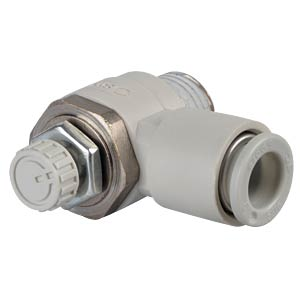 One-way throttle valve, angled, R1/4 <> 8 mm SMC PNEUMATIK
