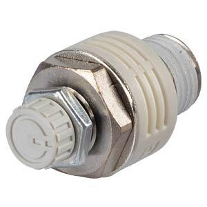 Metering valve with silencer R1/4, Teflon-coated SMC PNEUMATIK