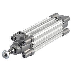 ISO cylinder, profile design, M10, Ø 32mm, 80mm SMC PNEUMATIK