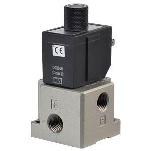 Sitzventil 3/2, für Druckluft, 24 VDC, 320 l/min, G1/4 SMC PNEUMATIK