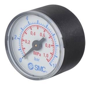 Manometer 0,0 ... 1,0 MPa, ±2,5%, Anzeige-Ø 40 mm SMC PNEUMATIK