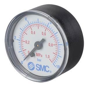 Manometer 0,0 ... 1,0 MPa, ±2,5%, Anzeige-Ø 50 mm SMC PNEUMATIK