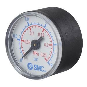 Manometer 0,0 ... 0,25 MPa, ±2,5%, Anzeige-Ø 40 mm SMC PNEUMATIK
