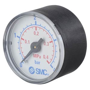 Manometer 0,0 ... 0,4 MPa, ±2,5%, Anzeige-Ø 40 mm SMC PNEUMATIK